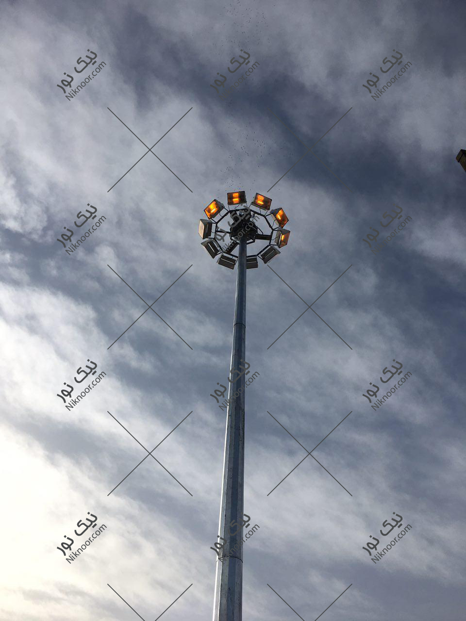 برج نور متحرک شرکت نیک نور