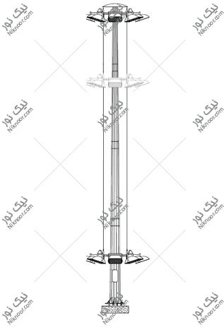 نقشه برج نور متحرک