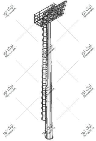 نقشه برج نور استادیومی