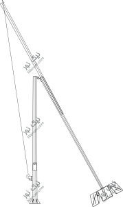 نقشه پایه چراغ تاشو