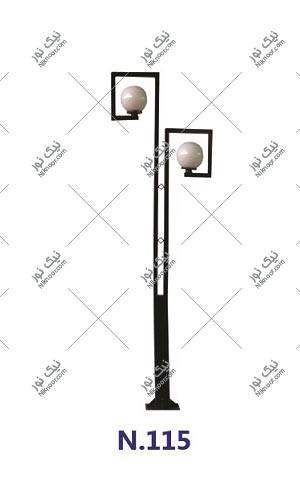 پایه چراغ پارکی بلند کد 115