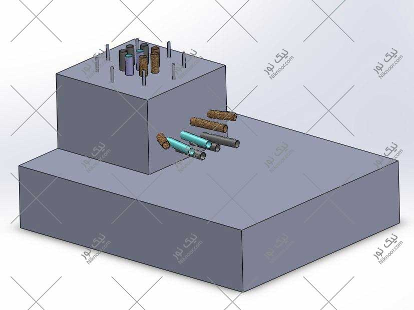 نقشه سه بعدی فونداسیون پیش ساخته