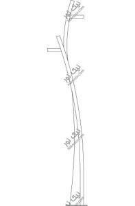 نقشه پایه چراغ پارکی