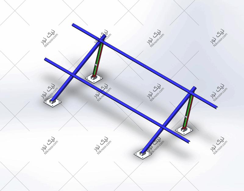 نقشه استراکچر پنل خورشیدی