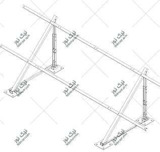 نقشه استراکچر پنل سولار