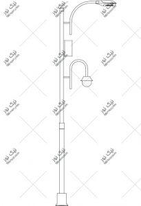 نقشه پایه چراغ دکوراتیو