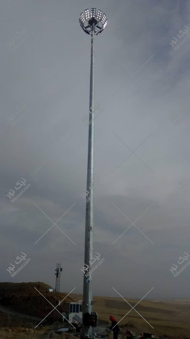 دکل روشنایی متحرک 25 متری