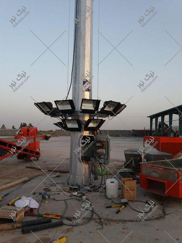 برج روشنایی سبد متحرک